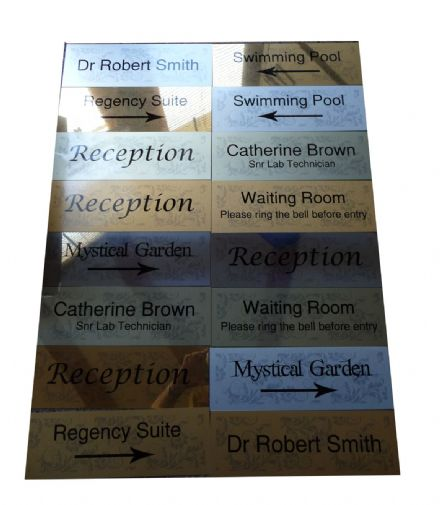 Metal Door Signs 30x10cm (with or without pattern) name plates, directional, etc customised